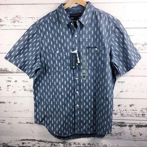 US POLO ASSN Blue Chambray Button Down Shirt NEW
